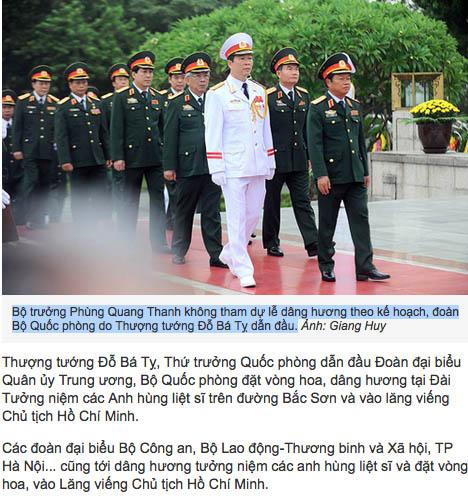 Phùng Quang Thanh Cho Bác Hồ Quang Leo Cây Tin Tức Quyền được Biết